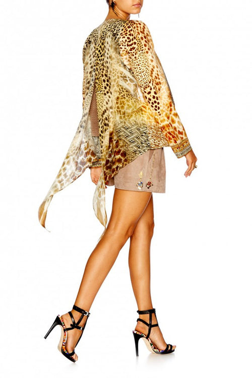 Jacket W/ Tie Back Detail- Leopards Leap