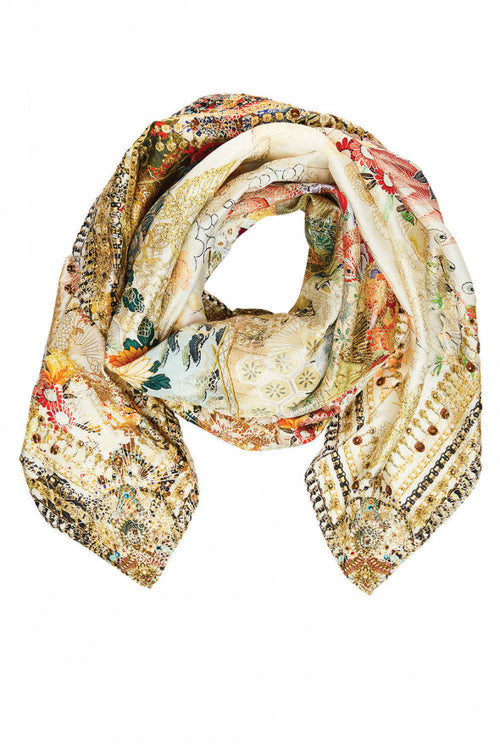 Large Square Scarf- Lady Labyrinth