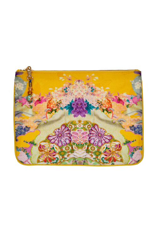 Small Canvas Clutch- Mellow Muse