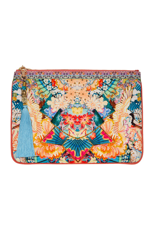 Small Canvas Clutch- Miso In Love