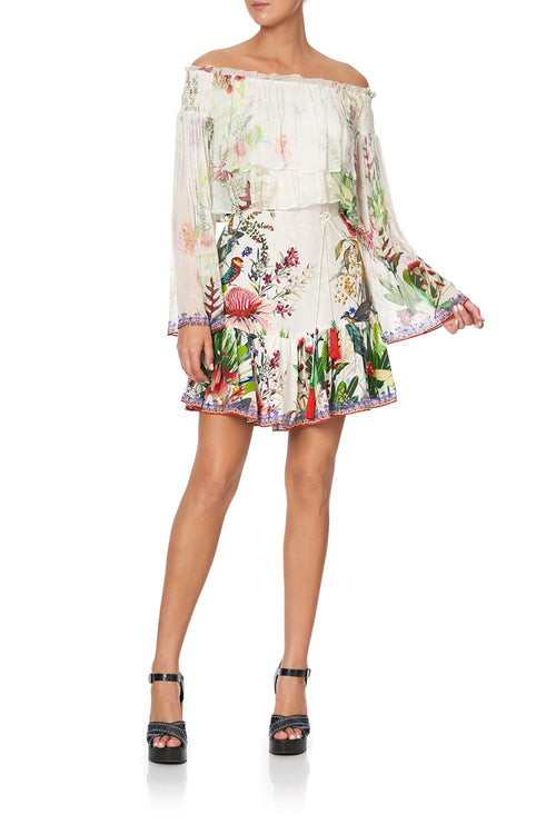 Tired Ruffle Dress- Faraway Floral