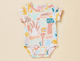 Short Sleeve Bodysuit- Sunset Kakadu