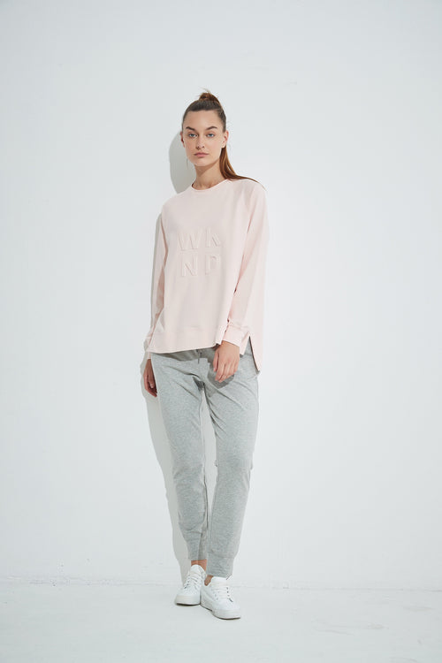 Embossed Sweat- Soft Pink