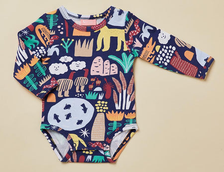 Long Sleeve Bodysuit- Milky Way