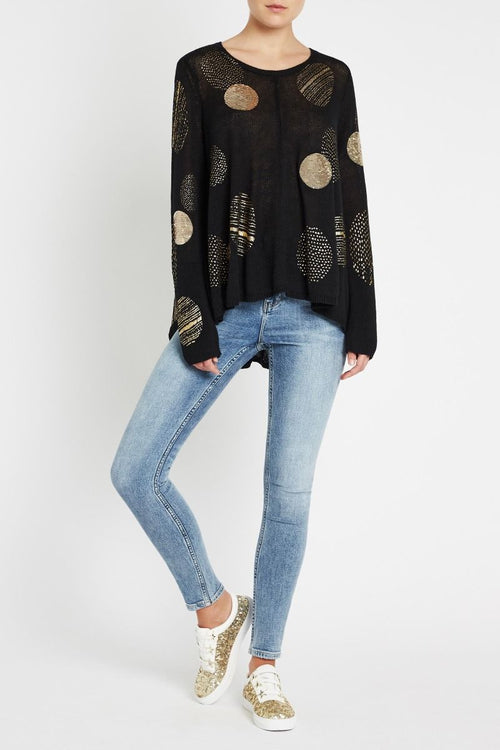 Lights On Lights Out Sweater- Black