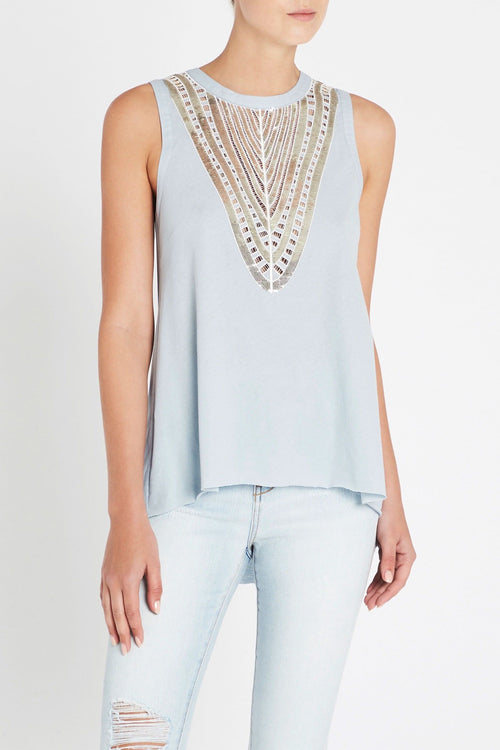 Dream Away Tank- Light Blue