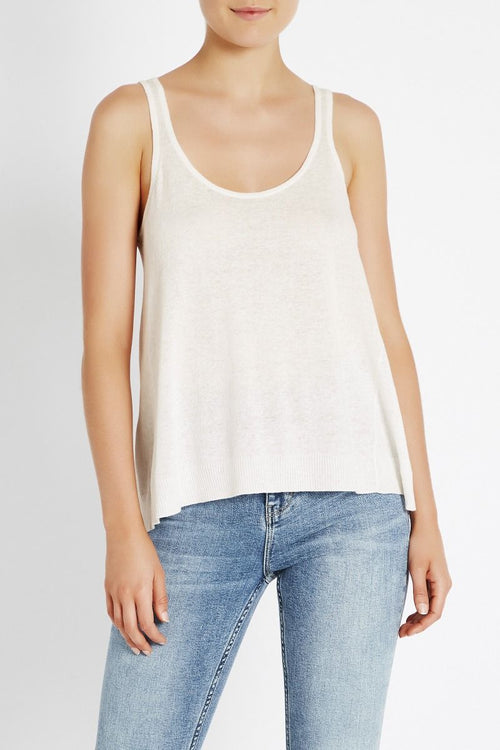 Sweet Sound Knit Tank- Ivory