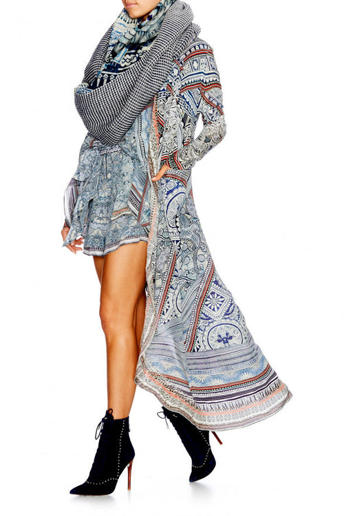 Long Casual Jacket- Antique Batik