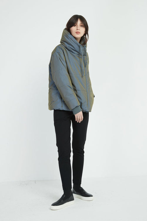 Big Collar Jacket- Blue/Green