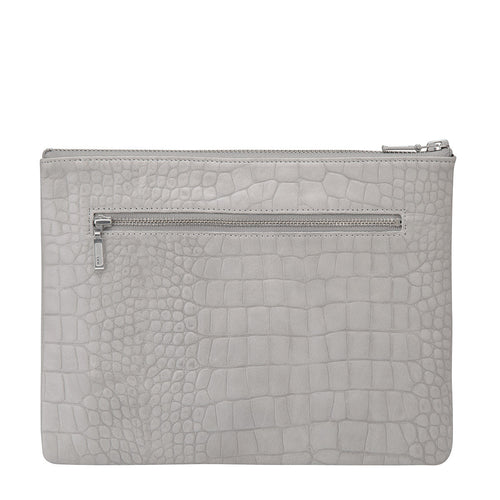 Anti- Heroine Clutch- Grey Croc