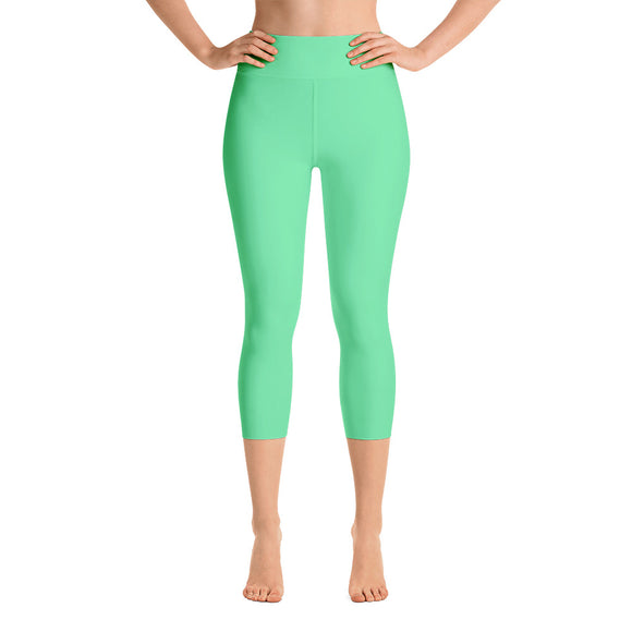 Green Sorbet Capri Leggings