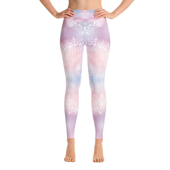 Pastel Mandala Yoga Leggings