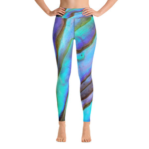 Azure Abalone Yoga Leggings