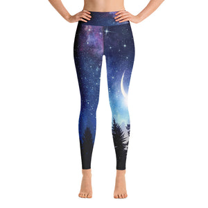 Starry Night Yoga Leggings