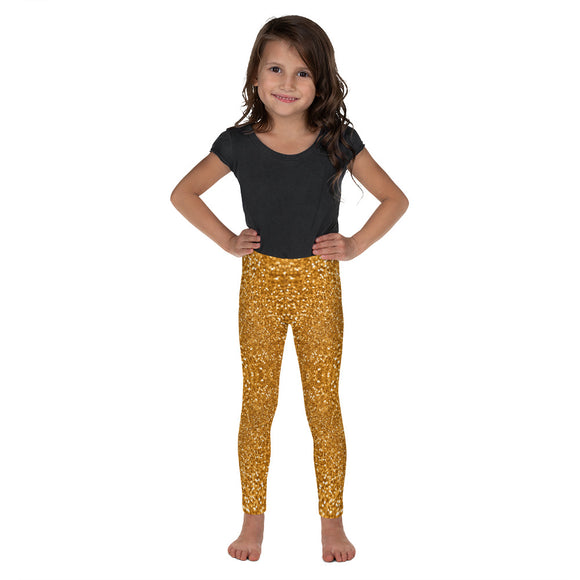 Gold Glitter Kid's Leggings