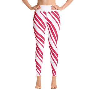 Candy Cane Yoga Leggings