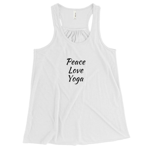 'Peace Love Yoga' Women's Flowy Racerback Tank