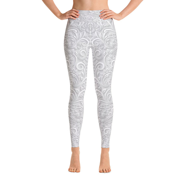 Frosted Ivory Yoga Leggings
