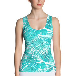 Tropical Turquoise Tank Top