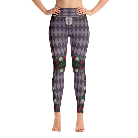 Illusion of Time and Roses Yoga Leggings