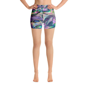 Abalone Shell Yoga Shorts