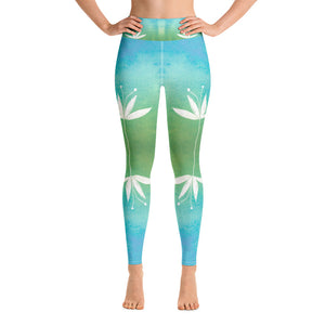 Spring Lotus Yoga Leggings