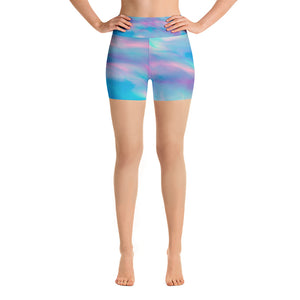 Mermaid Skies Yoga Shorts