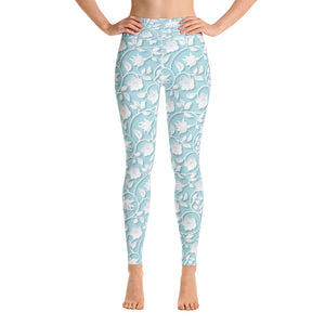 Antique Blossoms Yoga Leggings