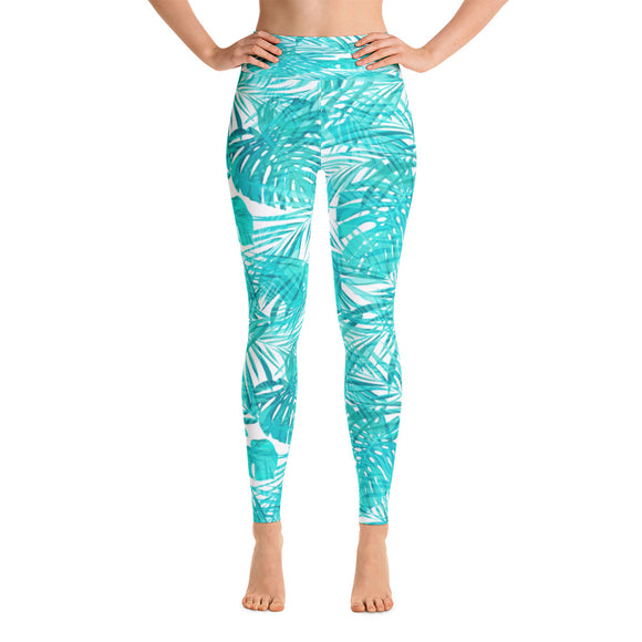 Tropical Turquoise Yoga Leggings