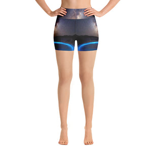 Luminescent Shores Yoga Shorts