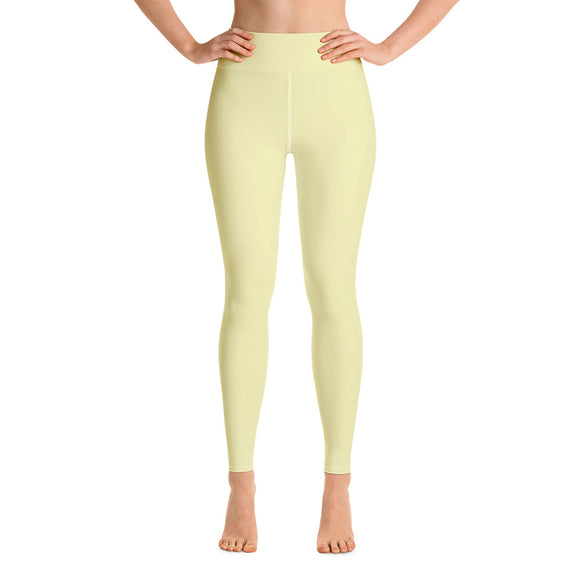 Pastel Yellow Yoga Leggings
