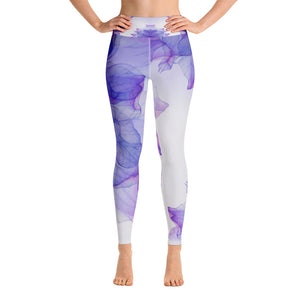 Watercolor Bloom Yoga Leggings