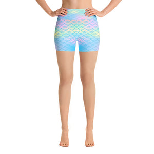 Mermaid Scale Yoga Shorts