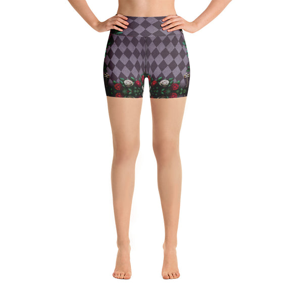 Illusion of Time and Roses Yoga Shorts