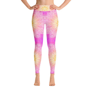 Magenta Mandala Yoga Leggings