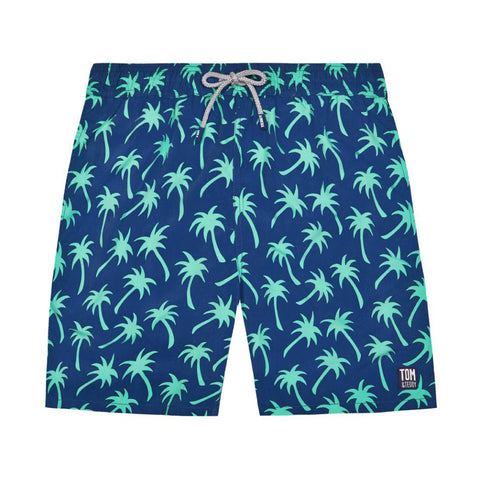 Navy & Spring Green Palms