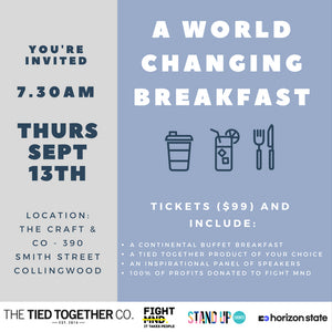 2018 Tied Together Breakfast Ticket (WITH A SET OF CUFFLINKS)