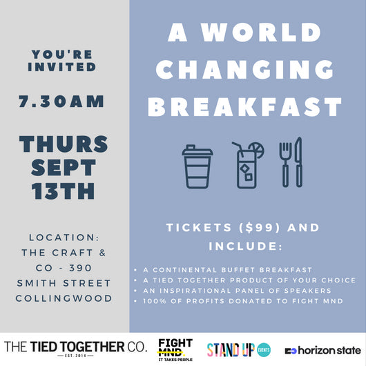 2018 Tied Together Breakfast Ticket (WITH A TIE)