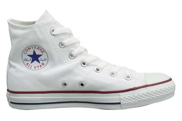 converse hi cut white