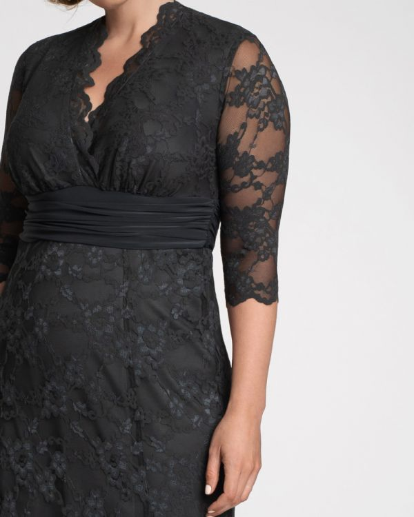 Screen Siren Lace Gown in Twilight Grey
