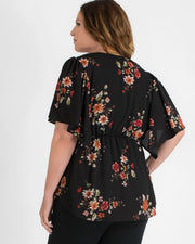 Seaside Serenade Top in Fall Floral Bouquet