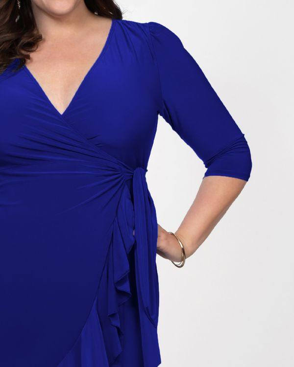 Whimsy Wrap Dress in Cobalt Blue