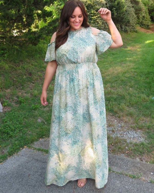 Athena Cold Shoulder Maxi Dress