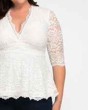Linden Lace Top in White