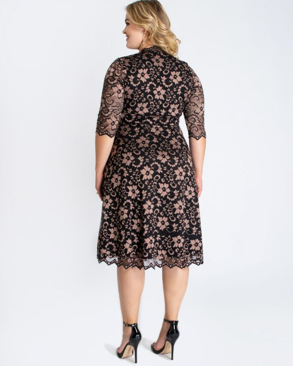 Mon Cherie Lace Dress in Rose Gold