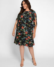 Tipton Tulip Sleeve Dress