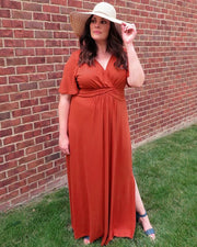 Desert Rain Maxi Dress in Amber