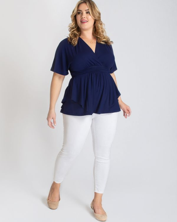 Promenade Top in Navy