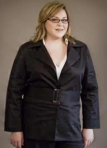 Plus Size Cotton Work Jacket