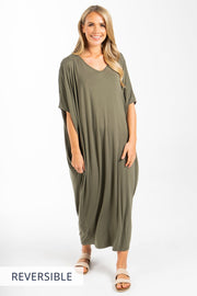 Maxi Miracle Dress in Khaki